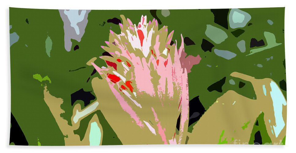 Flower Bath Towel featuring the photograph Pink On Green Work Number 6 by David Lee Thompson
