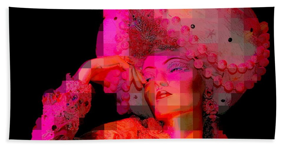 Mannequins Hand Towel featuring the photograph Pink Pixelated Princess by Ed Weidman