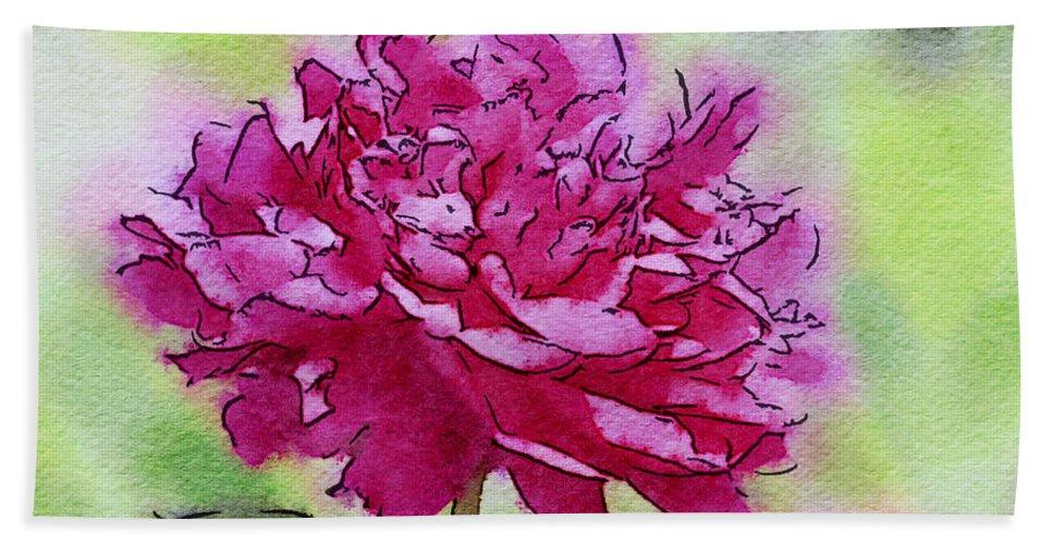 Flowers Bath Sheet featuring the photograph Pink Ruffles by Kerri Farley