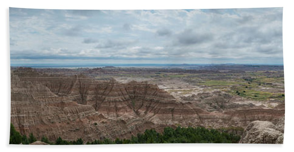 Pinnacles Overlook Hand Towel featuring the photograph Pinnacles Overlook Panorama by Michael Ver Sprill