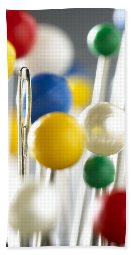 Pins Bath Sheet featuring the photograph Pins And Needle by Daniel Troy