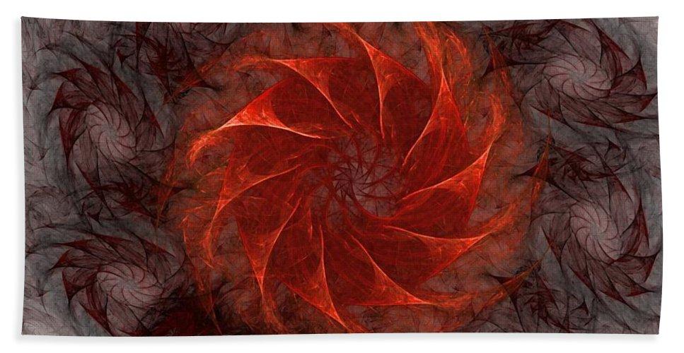 Fantasy Hand Towel featuring the digital art Pinwheel by David Lane