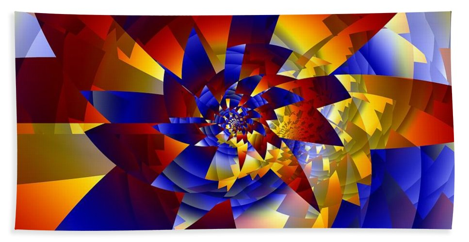 Pinwheel Hand Towel featuring the digital art Pinwheel by Ron Bissett