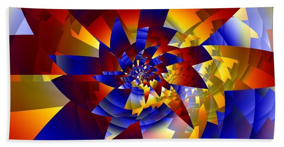 Pinwheel Bath Towel featuring the digital art Pinwheel by Ron Bissett