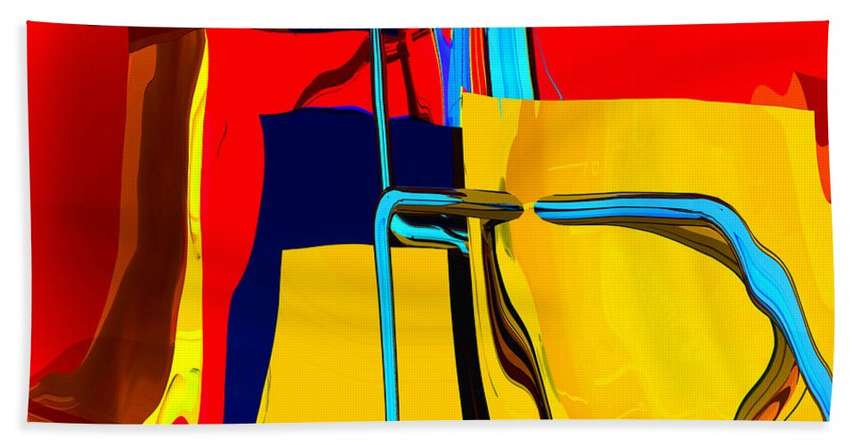 Abstract Hand Towel featuring the digital art Pipe Dream by Richard Rizzo