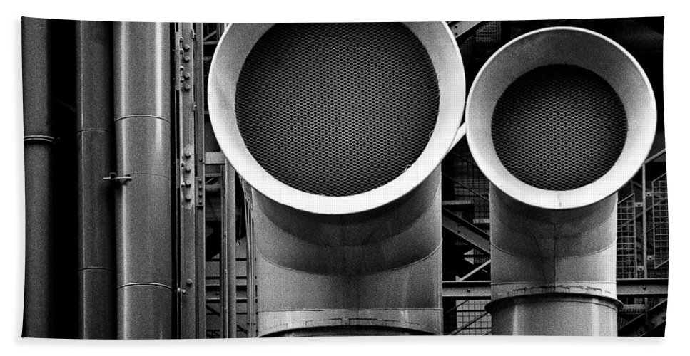 Industry Bath Towel featuring the photograph Pipes by Dave Bowman