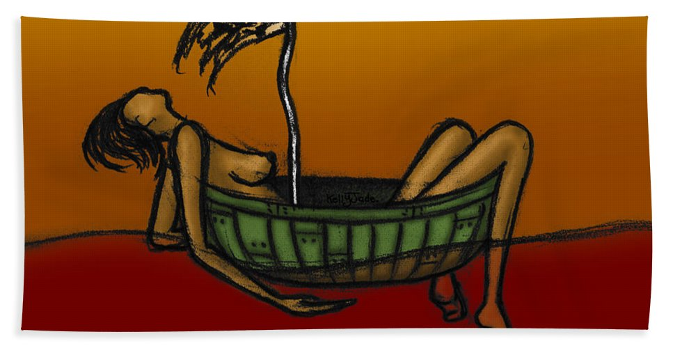 Pirate Bath Sheet featuring the digital art Pirate by Kelly Jade King