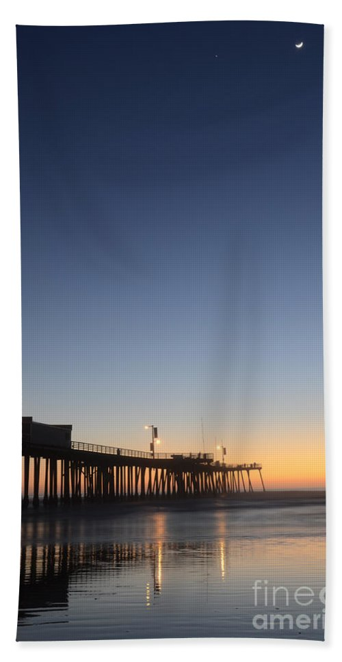 Pismo Hand Towel featuring the photograph Pismo Beach Pier California 3 by Bob Christopher