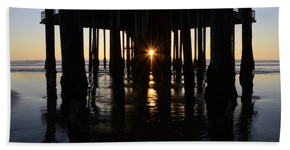 Pismo Hand Towel featuring the photograph Pismo Beach Pier California 7 by Bob Christopher