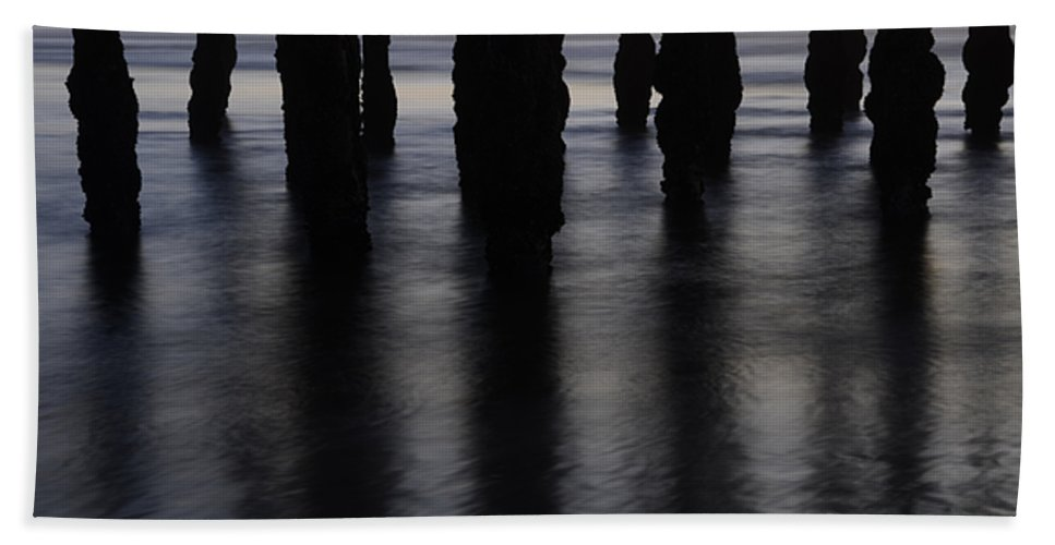 Pismo Bath Sheet featuring the photograph Pismo Beach Pier California1 by Bob Christopher