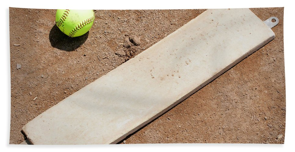 Softball Bath Sheet featuring the photograph Pitchers Mound by Kelley King