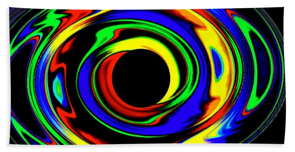 Abstract Bath Sheet featuring the digital art Pizzazz 12 by Will Borden