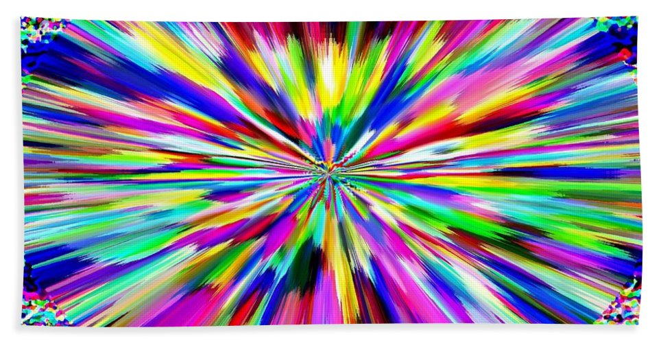 Abstract Bath Sheet featuring the digital art Pizzazz 19 by Will Borden