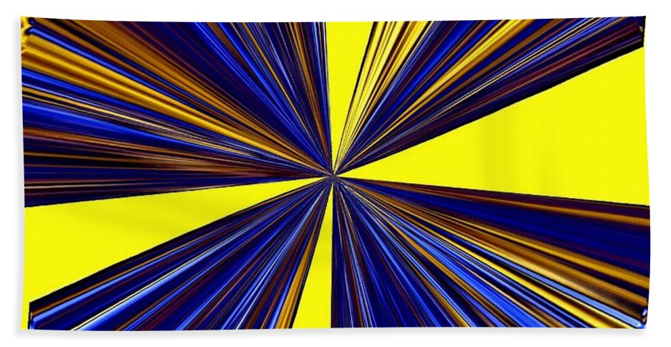 Abstract Bath Sheet featuring the digital art Pizzazz 20 by Will Borden