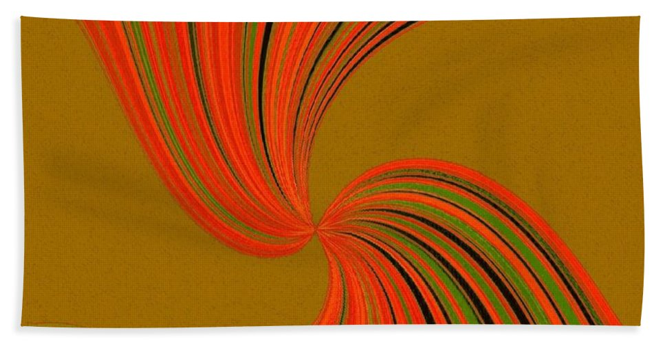 Abstract Bath Sheet featuring the digital art Pizzazz 34 by Will Borden