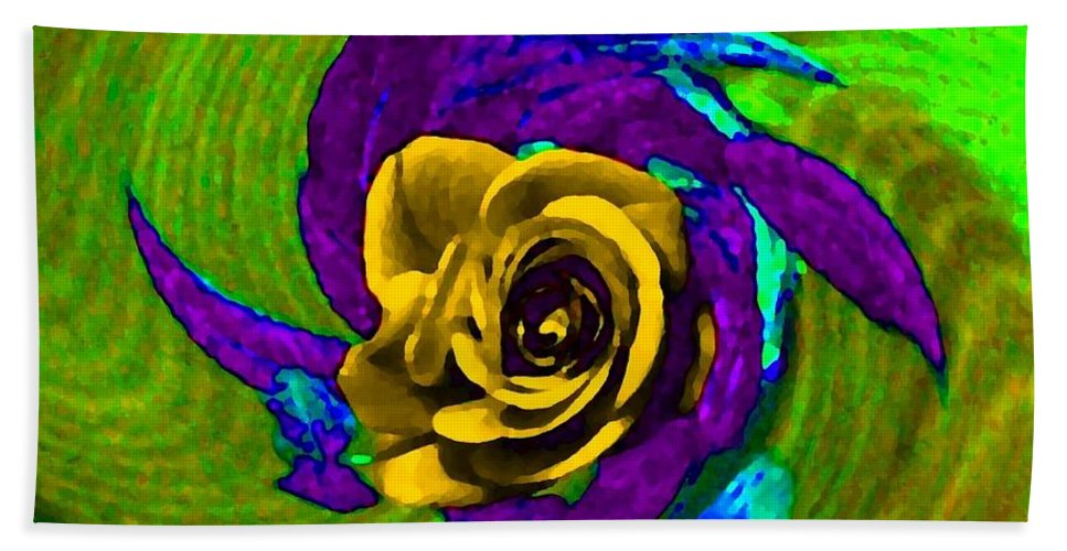 Abstract Bath Sheet featuring the digital art Pizzazz 4 by Will Borden