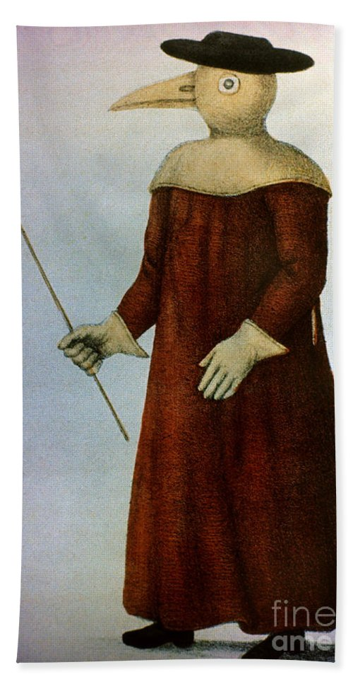1720 Hand Towel featuring the photograph Plague Costume by Granger