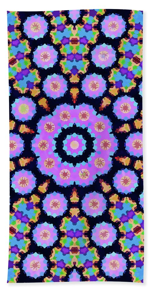 Mandala Art Hand Towel featuring the painting Planet by Jeelan Clark