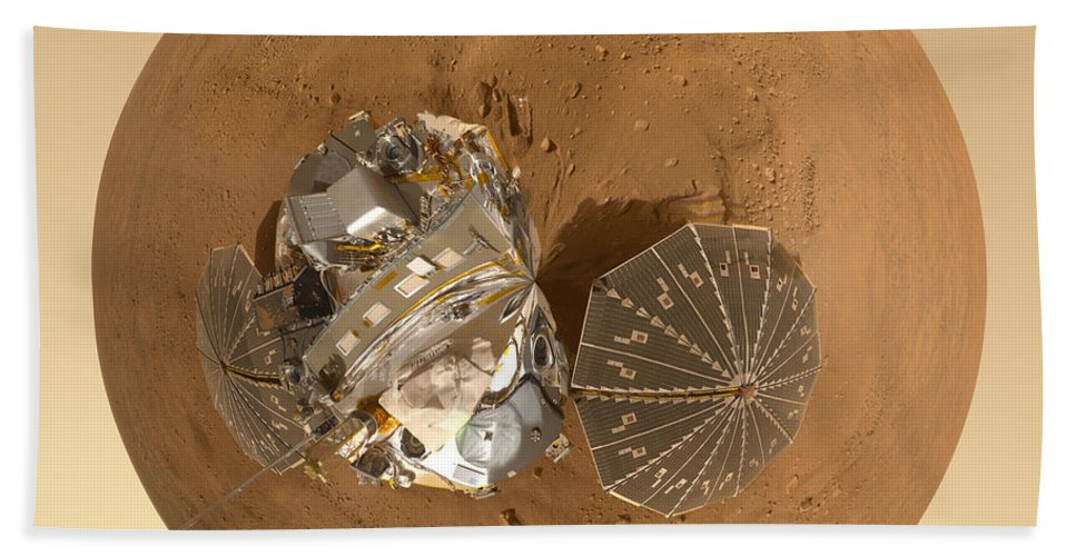 Mars Bath Sheet featuring the photograph Planet Mars Via Phoenix Mars Lander by Nikki Marie Smith