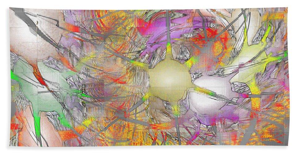 Fractal Hand Towel featuring the digital art Playful Colors Of Energy by Deborah Benoit