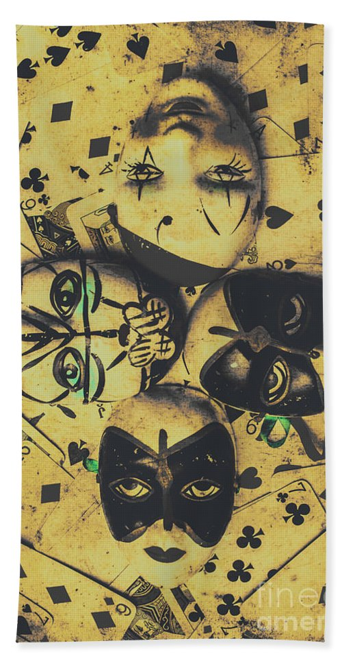 Playing Card Of A Vintage Masquerade Bath Towel for Sale by Jorgo ...