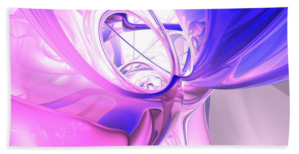 3d Bath Towel featuring the digital art Plum Juices Abstract by Alexander Butler