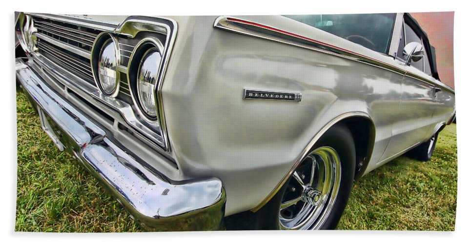 1967 Hand Towel featuring the photograph Plymouth Belvedere II by Gordon Dean II
