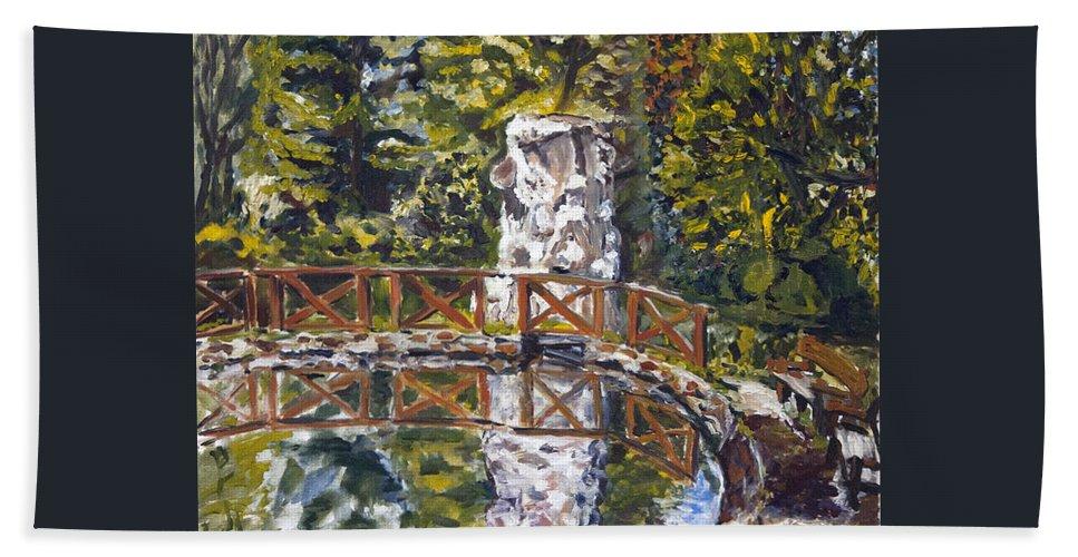 Landscape Hand Towel featuring the painting Pod Kvadakem by Pablo de Choros