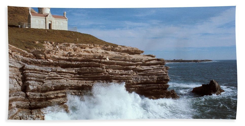 Point Conception Lighthouse Bath Sheet featuring the photograph Point Conception Lighthouse by Jerry McElroy