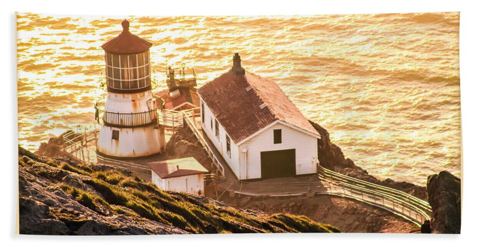 Point Reyes Lighthouse 2 Bath Sheet featuring the photograph Point Reyes Lighthouse 2 by Bonnie Follett