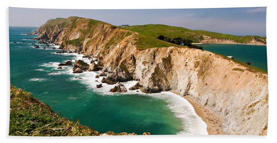 Elephant Seal Bath Sheet featuring the photograph Point Reyes National Seashore by Renee Hong