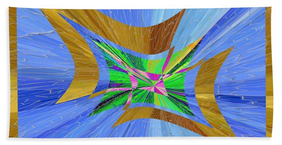 Abstract Bath Sheet featuring the digital art Point Taken by Tim Allen
