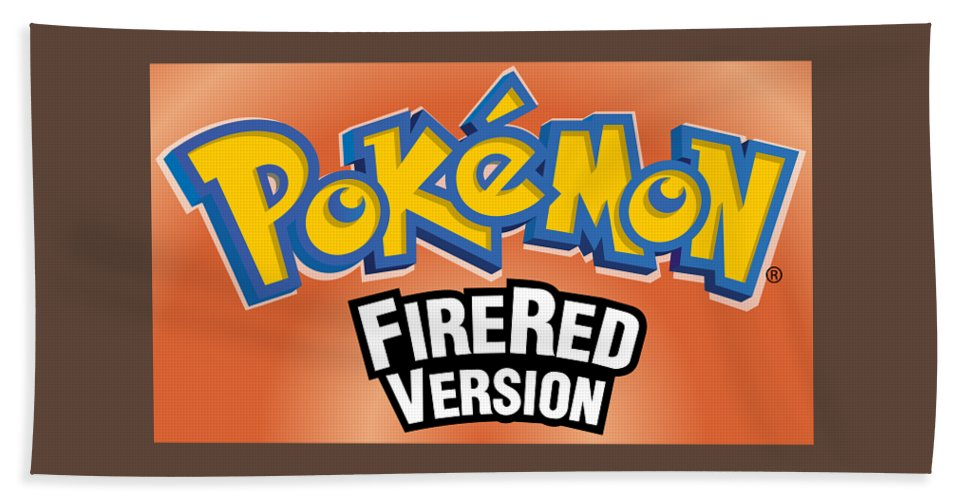 Pokemon Fire Red Rom Bath Sheet featuring the digital art Pokemon Fire Red Emulator by Pokemon fire red Emulator