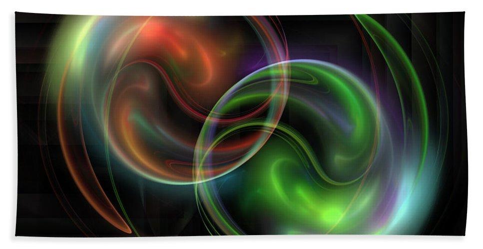 Fractal Bath Sheet featuring the digital art Polarity by Jutta Maria Pusl