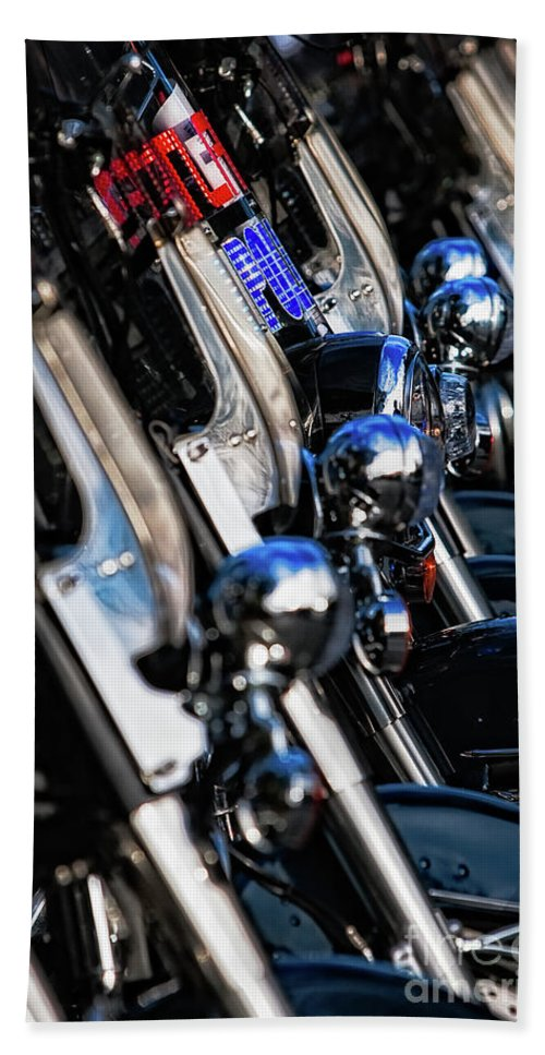 Atlanta Bath Sheet featuring the photograph Police Motorcycles by Doug Sturgess
