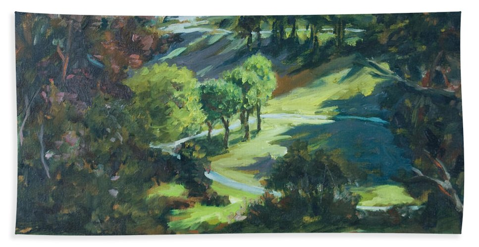 Park Bath Towel featuring the painting Polin Springs by Rick Nederlof