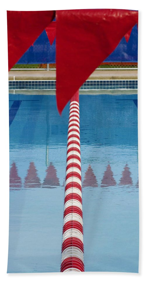 Flag Bath Towel featuring the photograph Pool by Skip Hunt