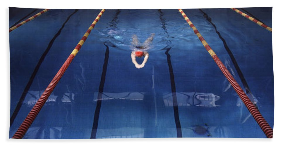 Pool Bath Sheet featuring the photograph Pool by Steve Williams