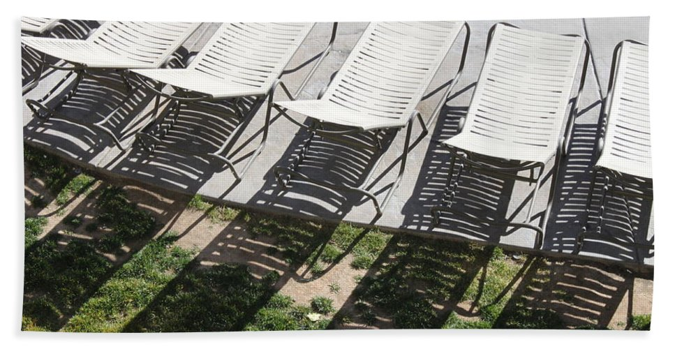 Pool Hand Towel featuring the photograph Poolside by Lauri Novak