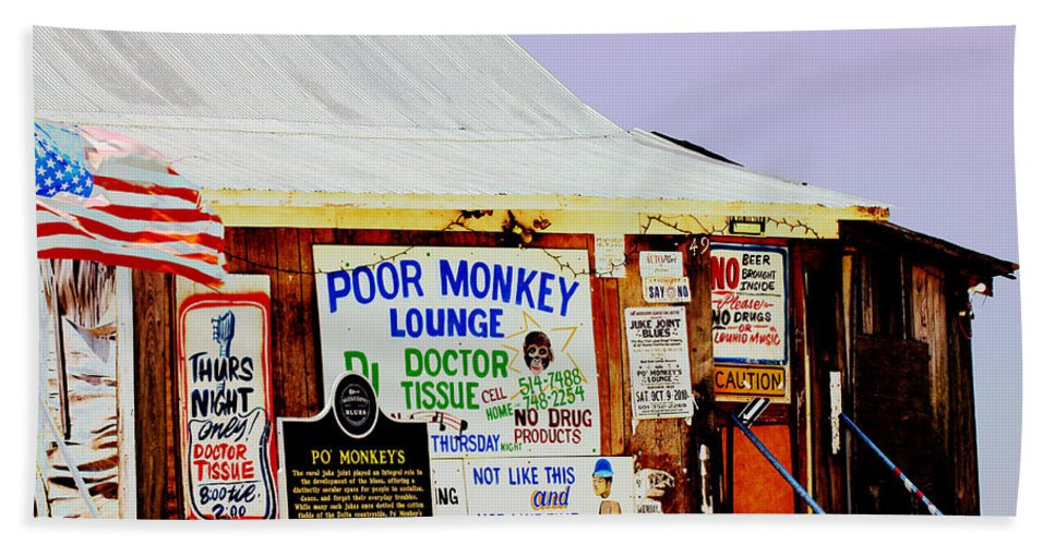 Mississippi Bath Sheet featuring the photograph Poor Monkey's Juke Joint by Karen Wagner