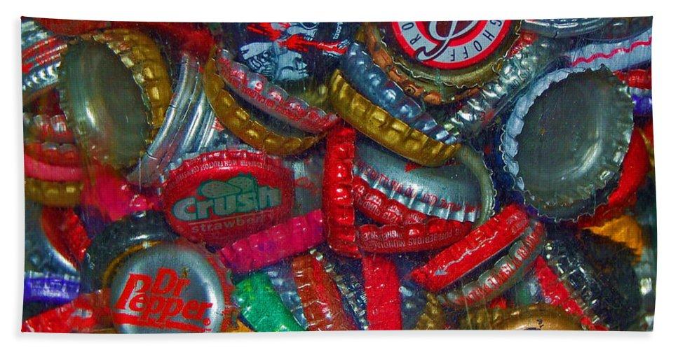 Bottles Bath Towel featuring the photograph Pop Art by Debbi Granruth