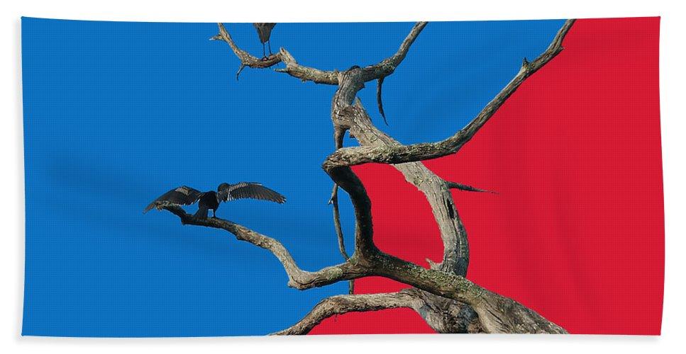Birds Hand Towel featuring the digital art Pop Art by Robert Meanor