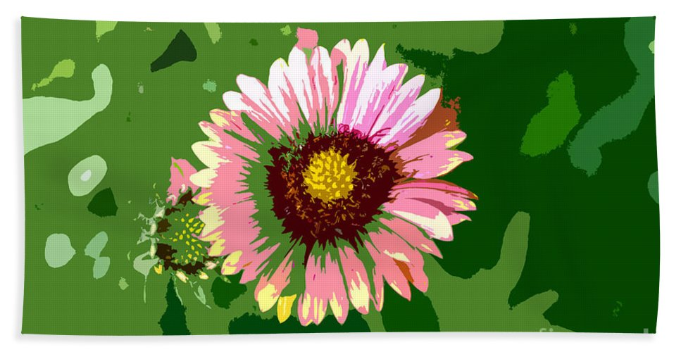 Flower Bath Towel featuring the photograph Pop Flower Work Number 23 by David Lee Thompson