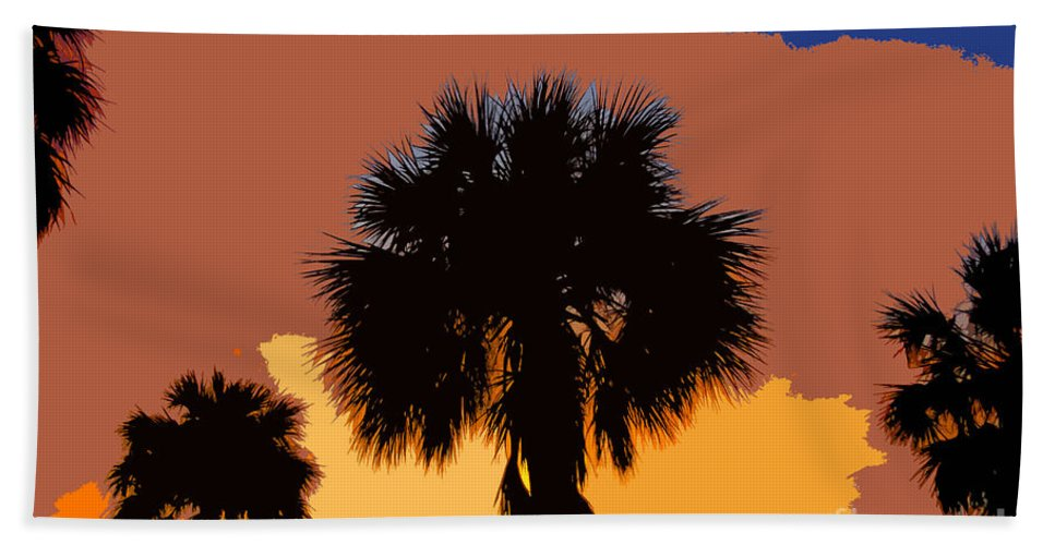 Palm Trees Bath Towel featuring the photograph Pop Palms by David Lee Thompson