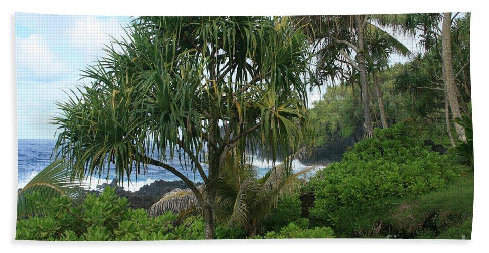 Aloha Bath Sheet featuring the photograph Poponi Maui Hawaii by Sharon Mau