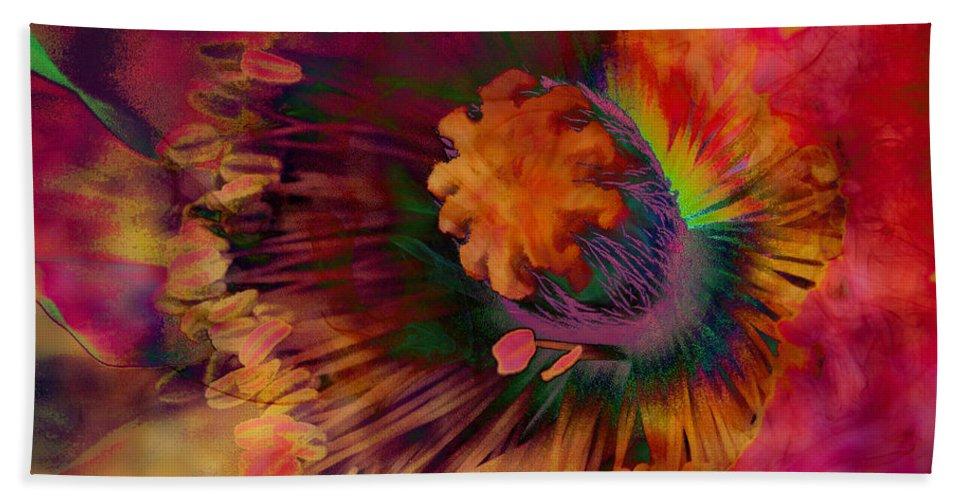Poppy Hand Towel featuring the digital art Poppy by Barbara Berney