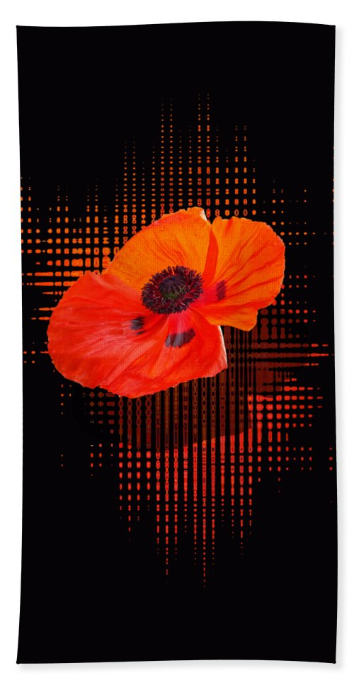 Poppy Passion Bath Sheet featuring the photograph Poppy Passion by Gill Billington