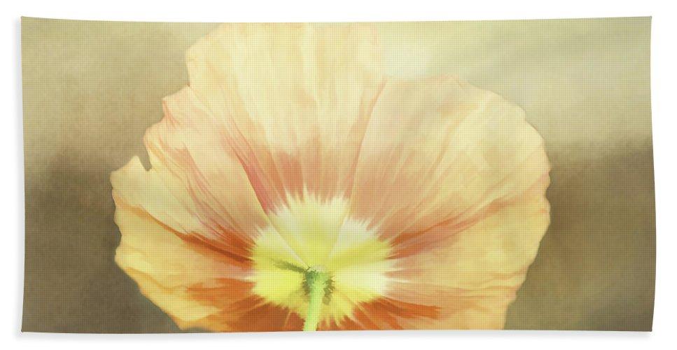 Poppy Hand Towel featuring the digital art Poppy Whisper by Terry Davis