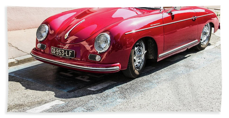 Porsche Oldtimer Bath Towel For Sale By Biphoto Barna Ilona