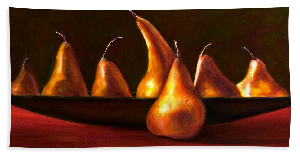 Still Life Bath Sheet featuring the painting Port Au Pear by Shannon Grissom